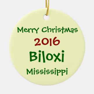 ORNEMENT DE JOYEUX NOËL DE 2016 BILOXI MISSISSIPPI