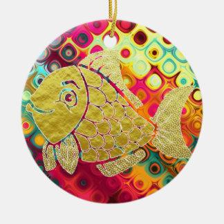 Ornement de la vie de poissons d'or