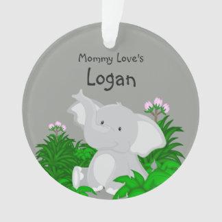 Ornement de l'éléphant de l'amour de maman (le nom