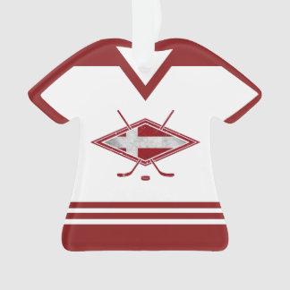 Ornement de logo du Jersey Danemark de nom et de