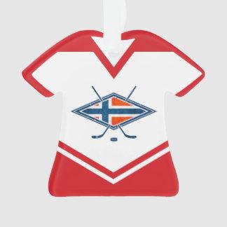 Ornement de logo du Jersey Norvège de nom et de
