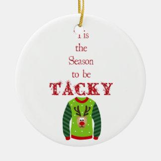 Ornement de mauvais goût de chandail de Noël
