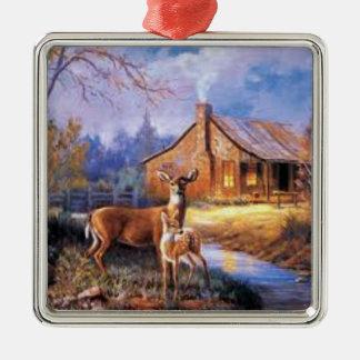 Ornement de Noël avec un cerf commun de daine et