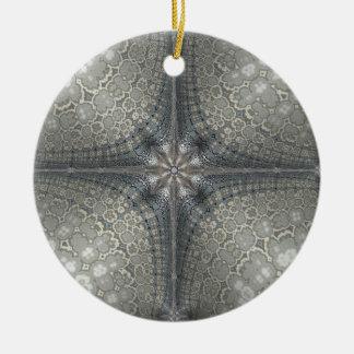 Ornement de Noël avec une étoile et une nativité