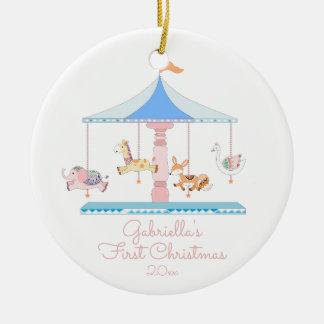 Ornement de Noël de Babys de fille douce de