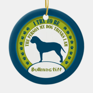 Ornement de Noël de Bullmastiff |