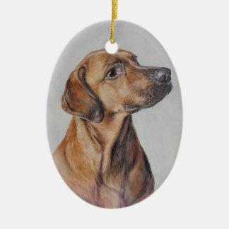 Ornement de Noël de chien de chasse