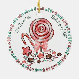 Ornement de Noël de chocolats de lucettes de sucre