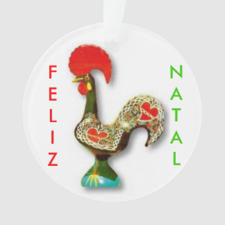 Ornement de Noël de coq de Portuguese*