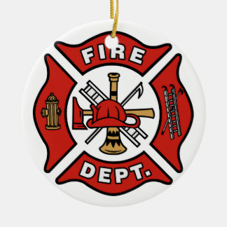 Ornement de Noël de corps de sapeurs-pompiers