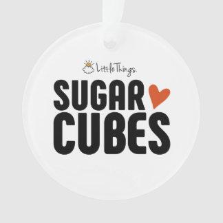 Ornement de Noël de cube en sucre