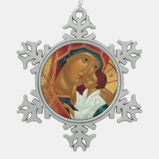 Ornement de Noël de flocon de neige avec l'icône