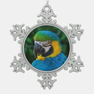 Ornement de Noël de la photo du perroquet