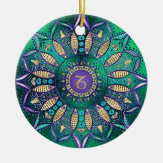 Ornement de Noël de mandala de Capricorne de signe