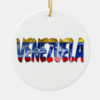 Ornement de Noël de mot de texture de drapeau du