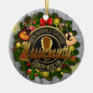 Ornement de Noël de musique country du