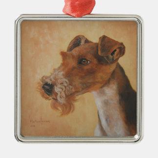 Ornement de Noël de peinture de chien de Fox