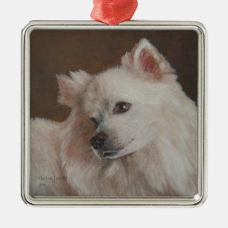 Ornement de Noël de peinture de chien de Samoyed
