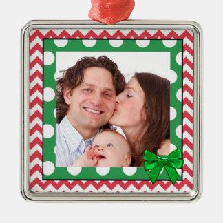 Ornement de Noël de photo de famille