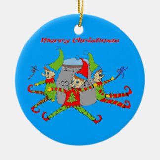 Ornement de Noël des elfes de biscuit