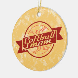 Ornement de Noël du base-ball, maman du base-ball