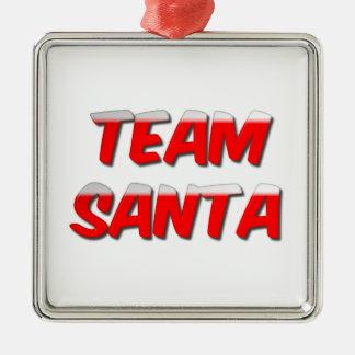 Ornement de Noël en métal de Père Noël d'équipe
