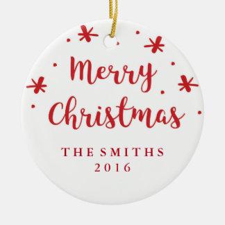 Ornement de Noël personnalisé joyeux par confettis