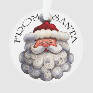 Ornement de Père Noël de matin de Noël - voir