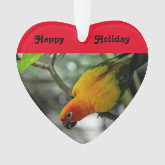 Ornement de perroquet de vacances de Noël