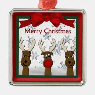 Ornement de prime de renne de Noël