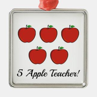 Ornement de professeur de 5 Apple