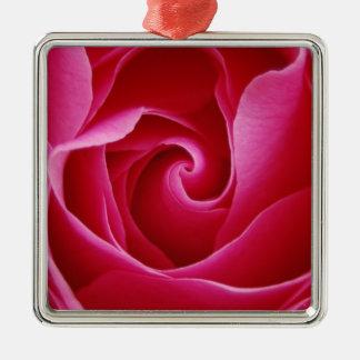Ornement de rose rouge