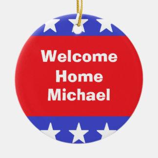 """Ornement """"de soldat à la maison bienvenu"""""""
