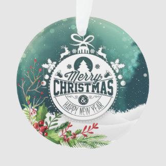 Ornement de vacances de Joyeux Noël et de bonne