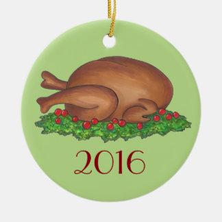 Ornement de vacances de Noël de thanksgiving de