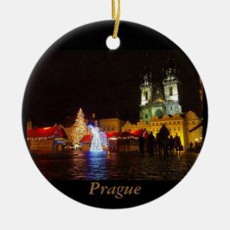 Ornement de voyage de nuit de Noël de Prague