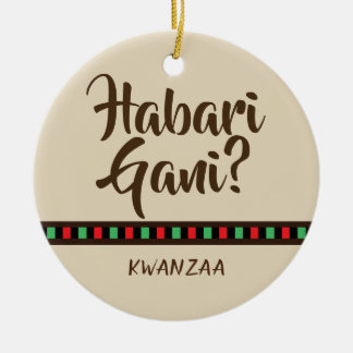 Ornement des points   de Habari Gani - de Kwanzaa