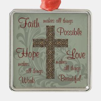 Ornement d'espoir et d'amour de foi