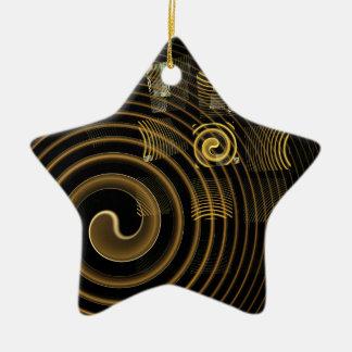 Ornement d'étoile d'art abstrait d'hypnose