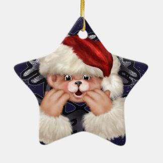 Ornement d'étoile de l'ours 4 de Noël