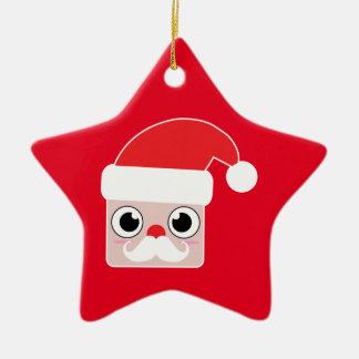 Ornement d'étoile de Père Noël