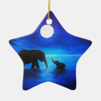 ornement d'étoile d'éléphant