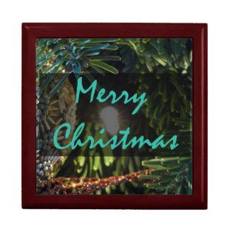 Ornement d'or de Joyeux Noël Boîte À Babioles