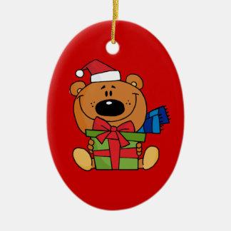 Ornement d'ours de nounours de Noël (le double a