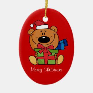 Ornement d'ours de nounours de Noël (un dégrossi)