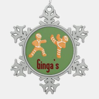 Ornement drôle de Ninja de pain d'épice de Noël de