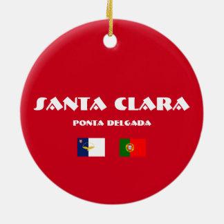 Ornement du football de Santa Clara Açores