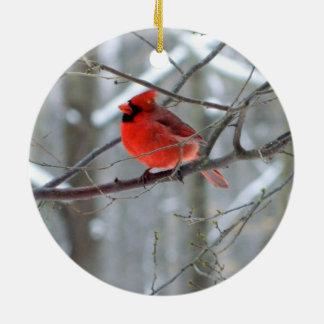 Ornement en céramique cardinal gai