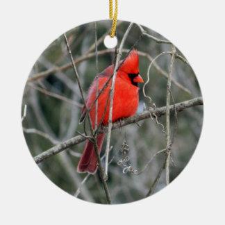 Ornement en céramique cardinal rouge royal