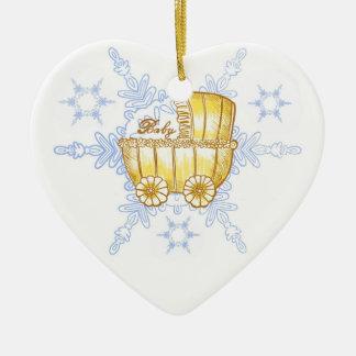 Ornement en céramique de bébé de flocon de neige